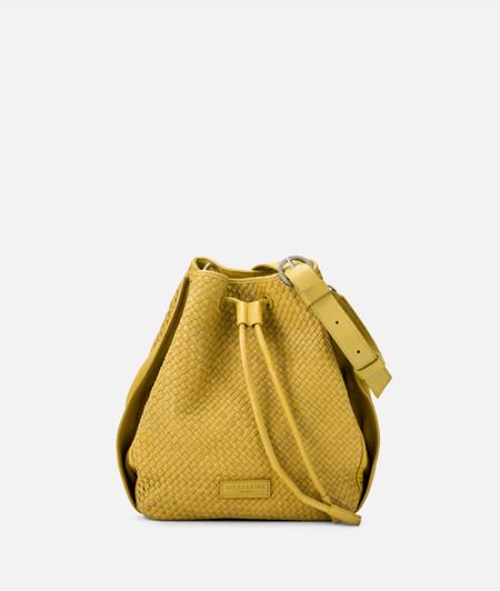 Tasche mit geflochtenen Leder mit Zugverschluss
