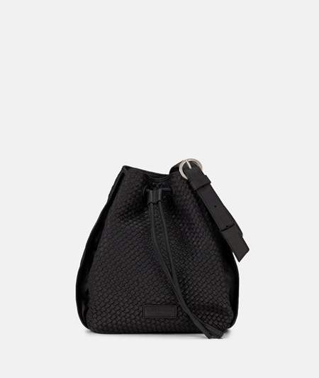 Bag with braided leather and a drawstring from liebeskind