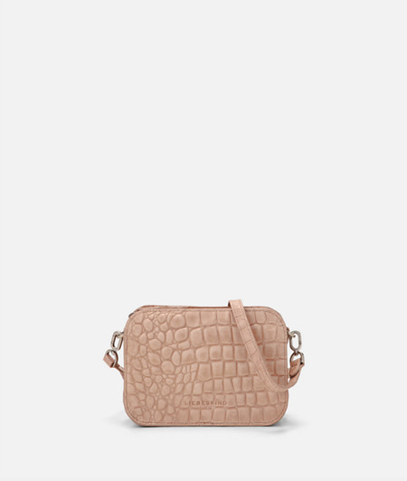 Box-shaped shoulder bag with crocodile embossing from liebeskind