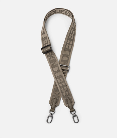 Woven shoulder strap with logo lettering from liebeskind