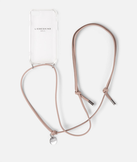 Flexible smartphone case with leather strap from liebeskind