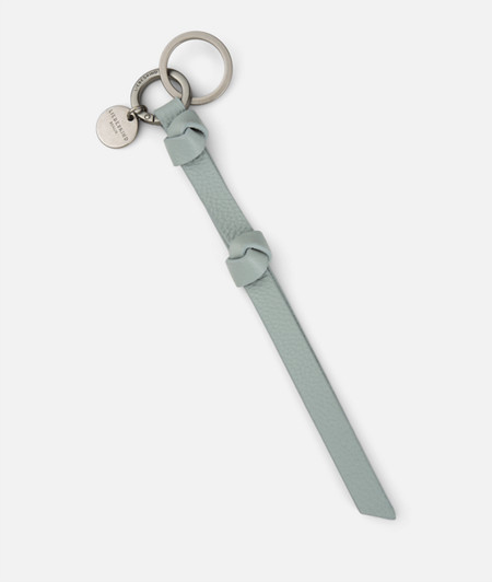 Key ring with a knotted leather strap from liebeskind