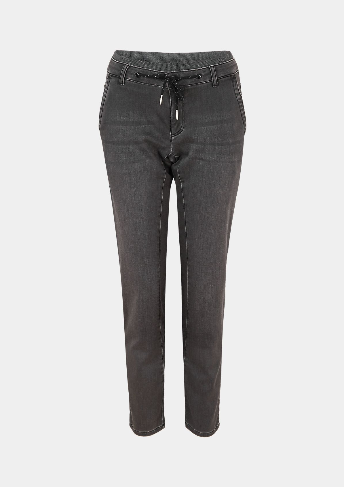 Regular Fit: Tapered leg-Hose mit Elastikbund