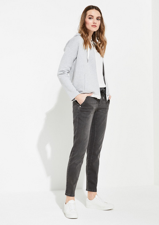 Regular Fit: tapered leg trousers with an elasticated waistband from comma