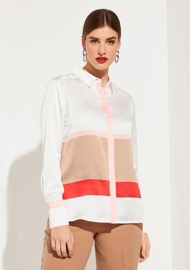 Bluse in Colour Blocking-Optik