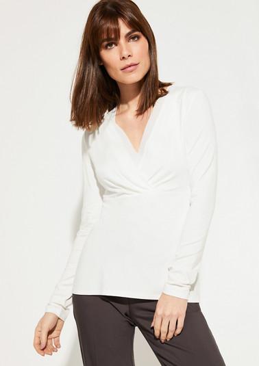 Langarmshirt mit Cache Coeur-Ausschnitt