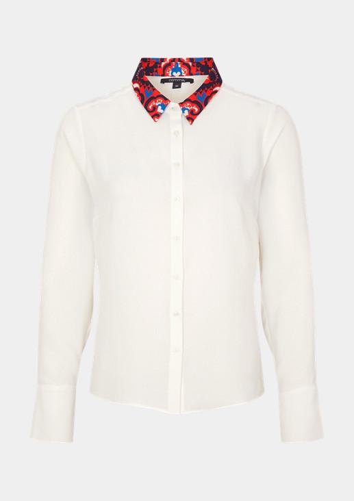 Bluse mit abnehmbarem Kragen