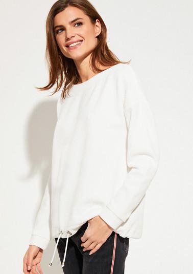 Sweatshirt mit Waffel-Struktur