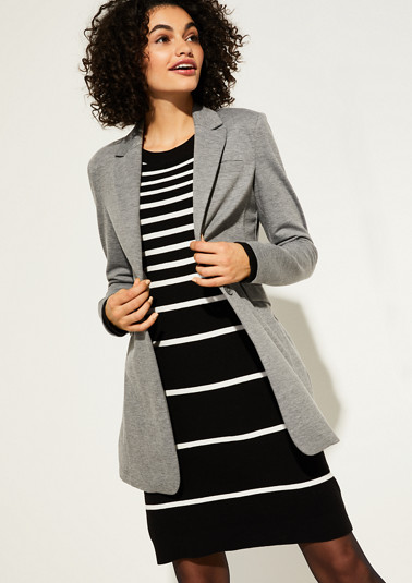 Long blazer made of jersey from comma