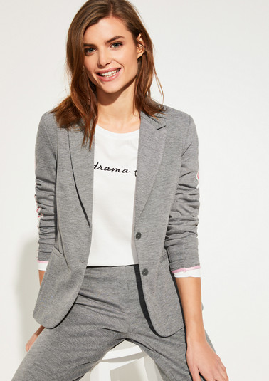 Melange jersey blazer from comma