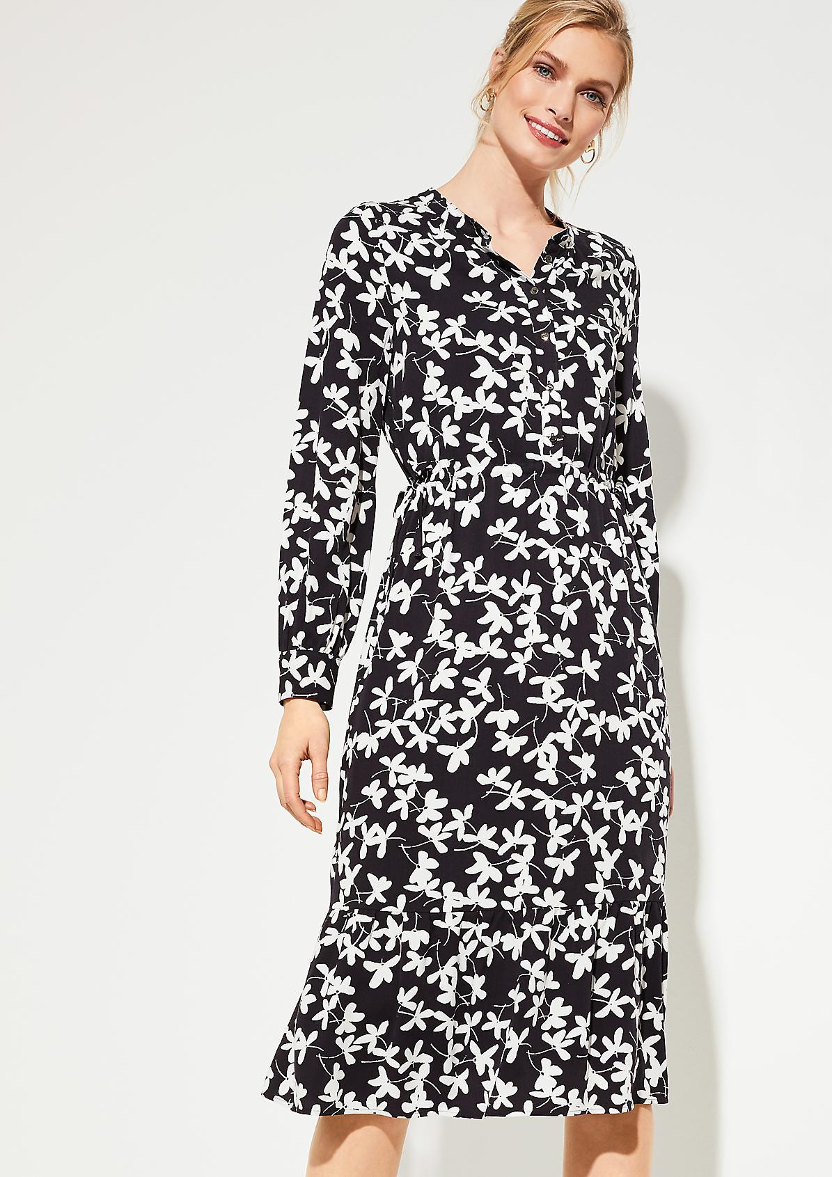 Kleid mit Allovermuster
