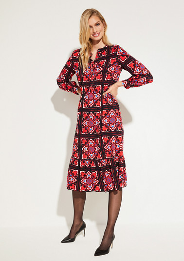Dress with allover pattern from comma