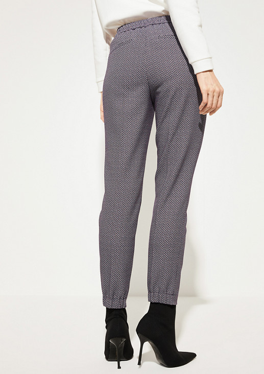 Regular Fit: Tapered ankle leg-Hose mit Jacquardmuster