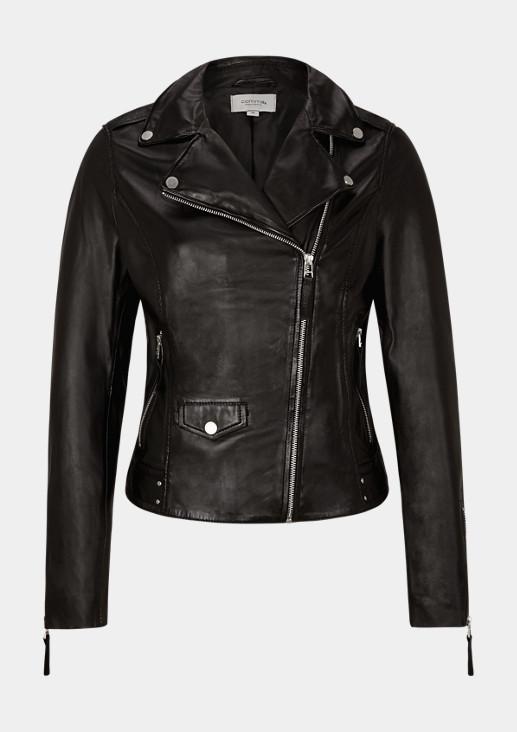 Taillierte Jacke aus Leder