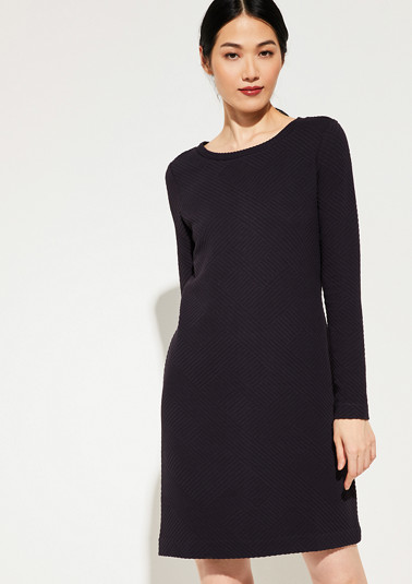 Dress made of textured jersey from comma