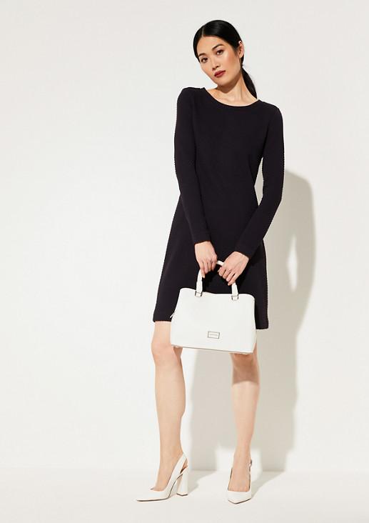 Kleid aus Strukturjersey