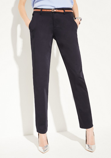 Regular Fit: Tapered leg-trousers from comma