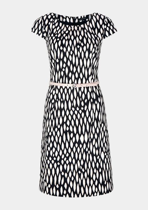 Kleid aus Baumwollsatin mit Gürtel