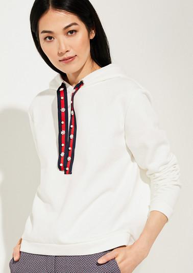 Sweatshirt mit Schmuckperlen