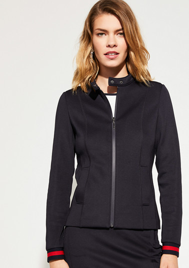 Sweatshirt jacket with contrast details from comma