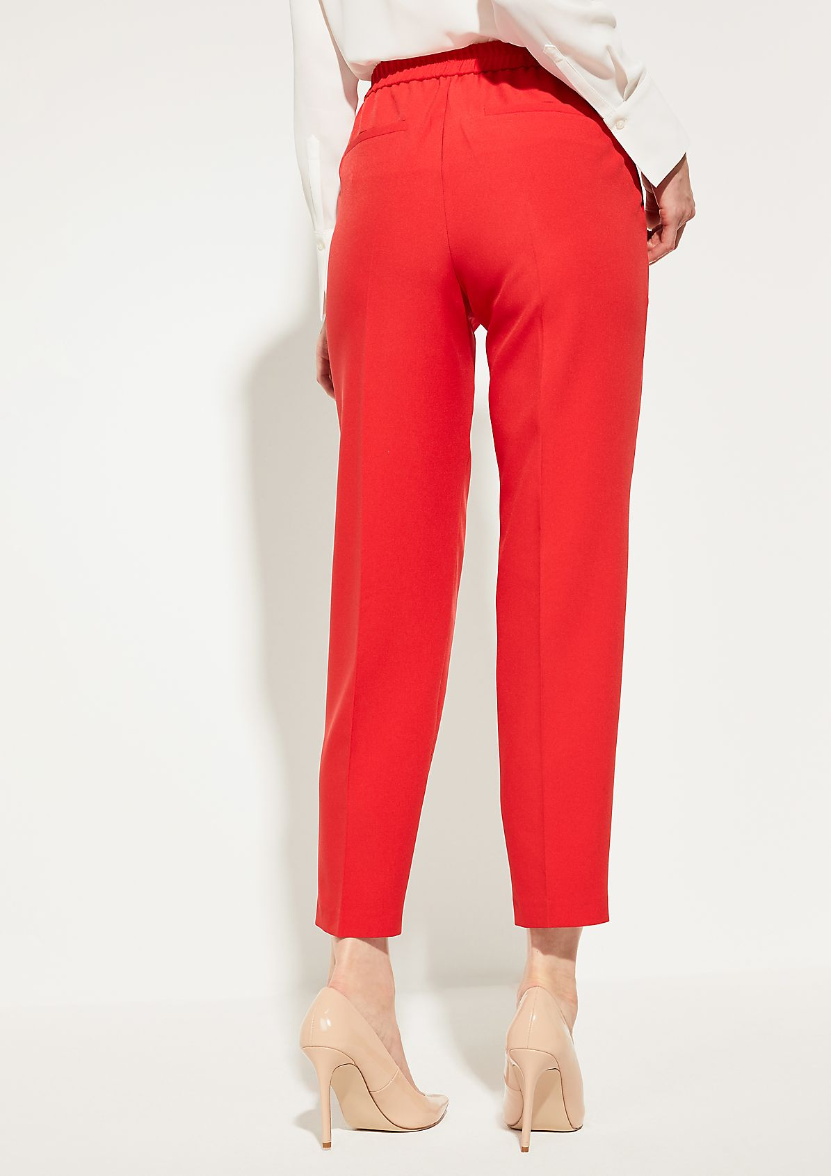 Loose Fit: trousers with an elasticated waistband from comma