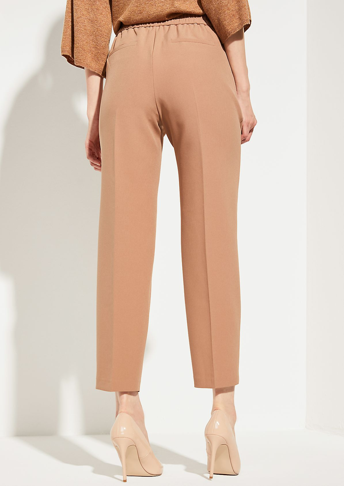 Loose Fit: Straight Ankle Leg trousers with an elasticated waistband from comma