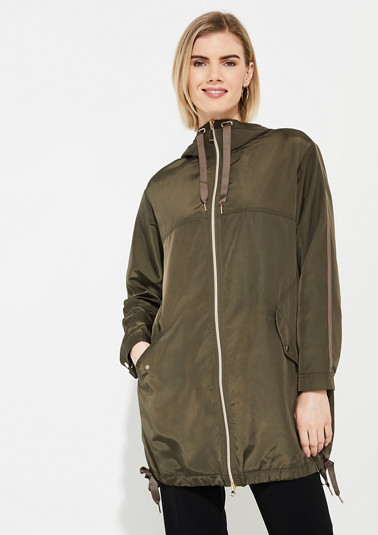 Oversized parka in a nylon look from comma