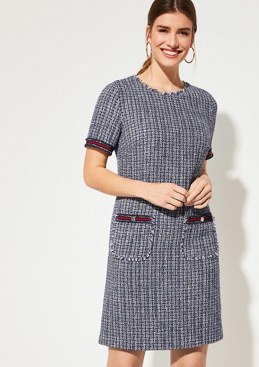 Kleid mit Bouclé-Struktur