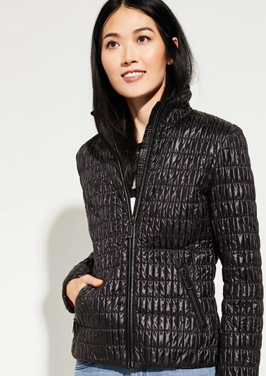 Nylon-Jacke mit gesmokter Steppung