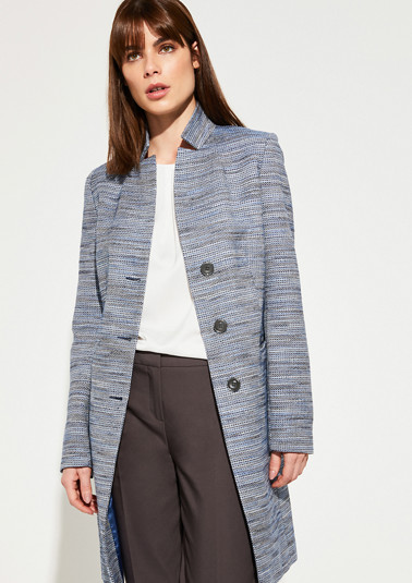 Frock coat with a tweed texture from comma