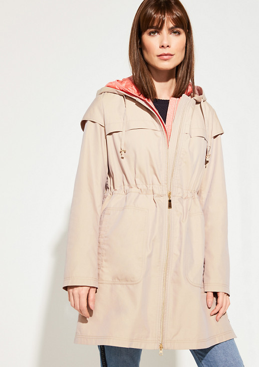 2-in-1 parka with a quilted body warmer from comma