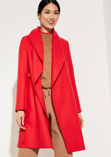 Coat with shawl collar from comma