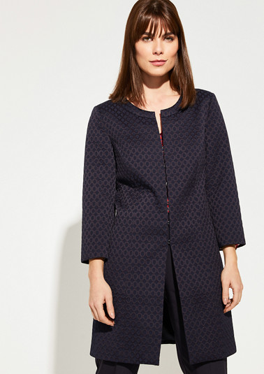 Coat made of jacquard from comma