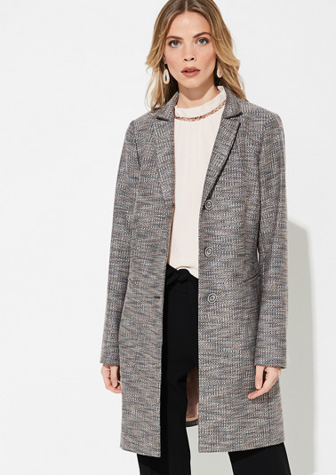 Frock coat with a multi-coloured texture from comma
