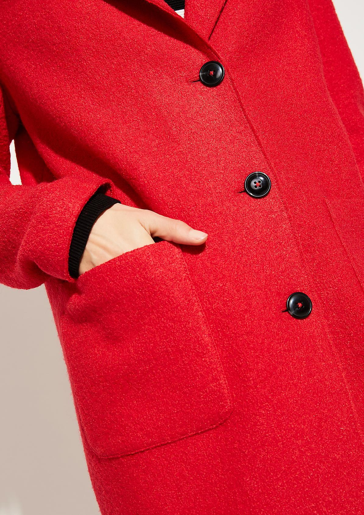 Bouclé-Mantel aus Wollmischung