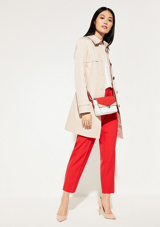 Trench coat with a grosgrain ribbon belt from comma