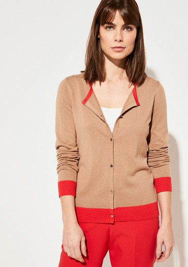Cardigan with contrasting details from comma