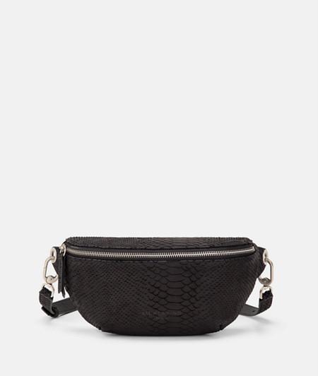 Belt wallet with a laser-cut python pattern from liebeskind