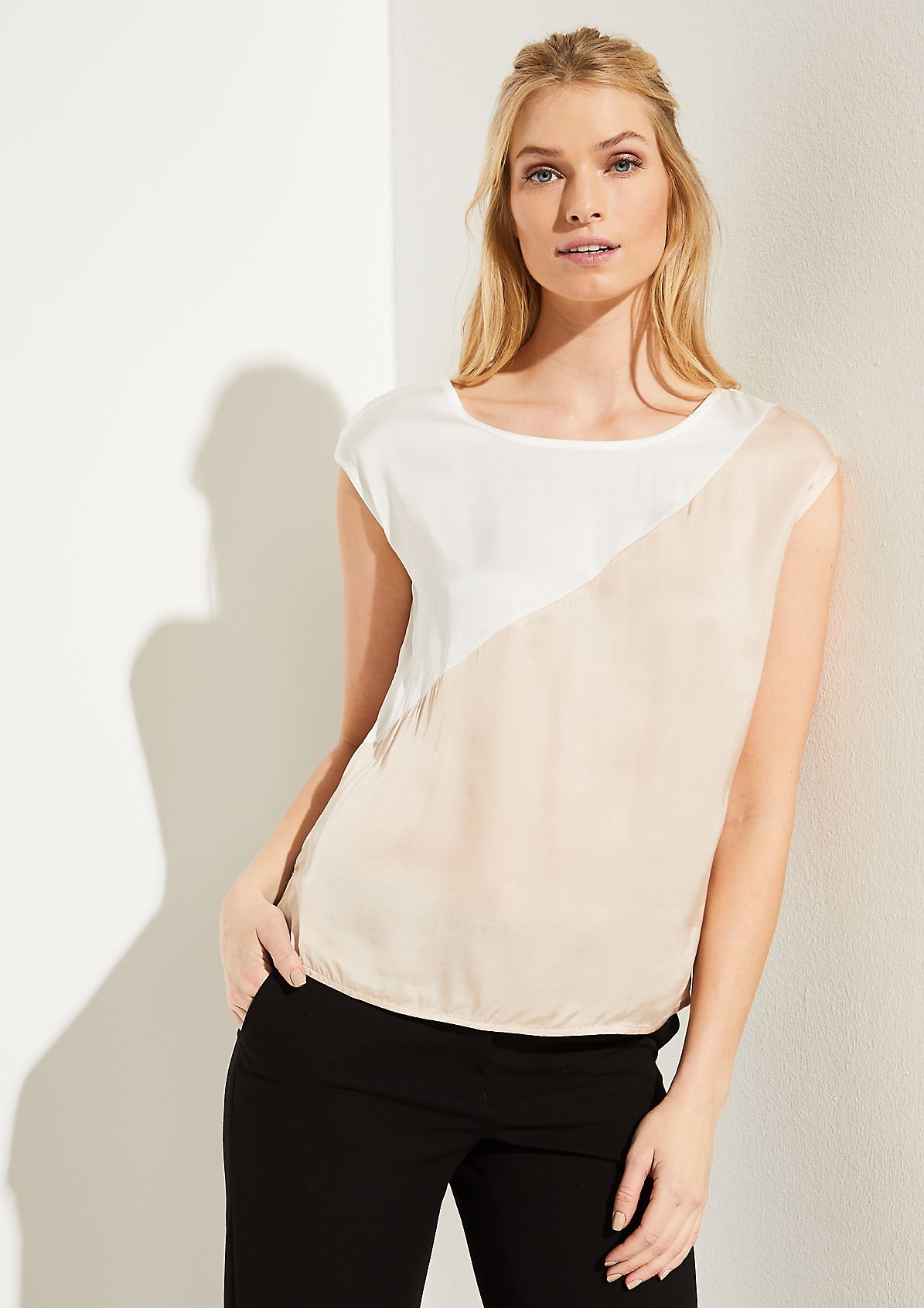 Satintop im Two Tone-Look