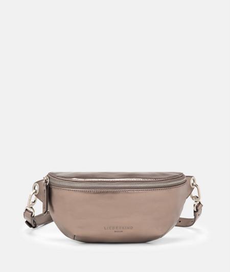 Metallic leather belt wallet from liebeskind