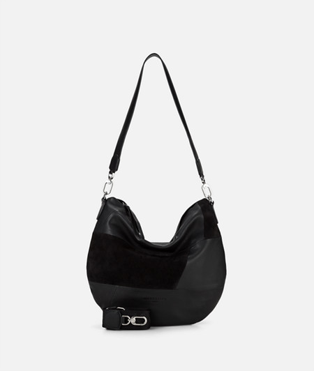 Mixed leather hobo bag from liebeskind