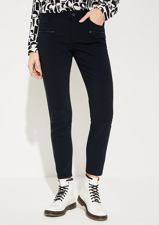 Slim fit: Slim fit ankle-length trousers  from comma