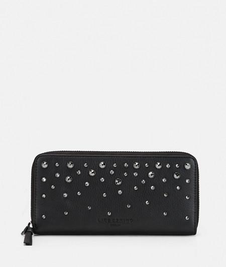 Large purse embellished with Swarovski® crystals from liebeskind