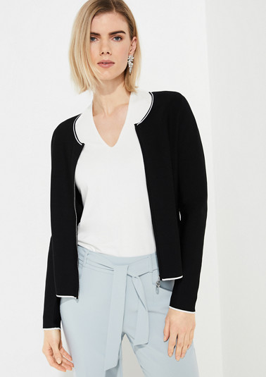 Cardigan with a zip from comma