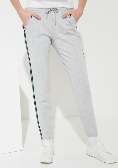 Jersey trousers in an athleisure look from comma