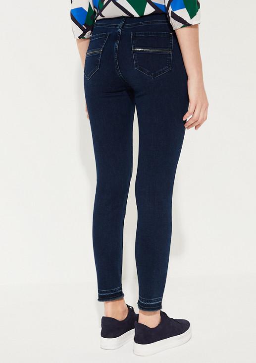 Skinny Fit: Skinny leg-Jeansmit Fransen