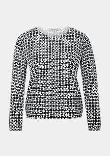 Leichter Pullover mit Allover-Print