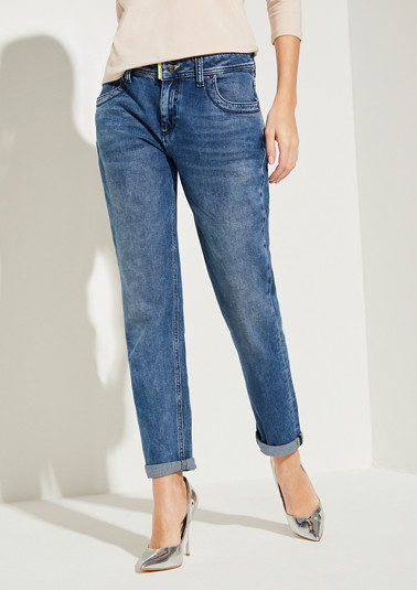 Relaxed Fit: Slim ankle leg-Jeans