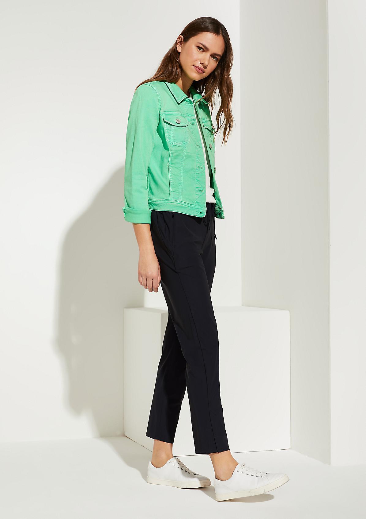 Jeansjacke mit Garment Dye-Effekt