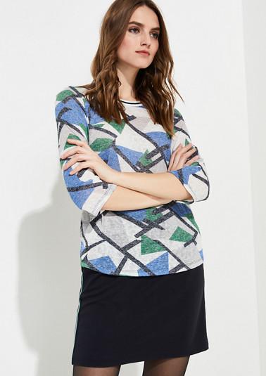 3/4-Arm-Shirt aus Feinstrick